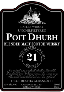 Poit Dhubh Front Label