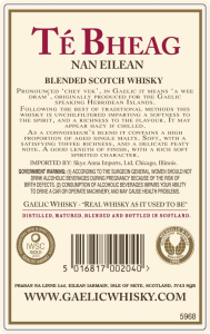 Te Bheag Back Label